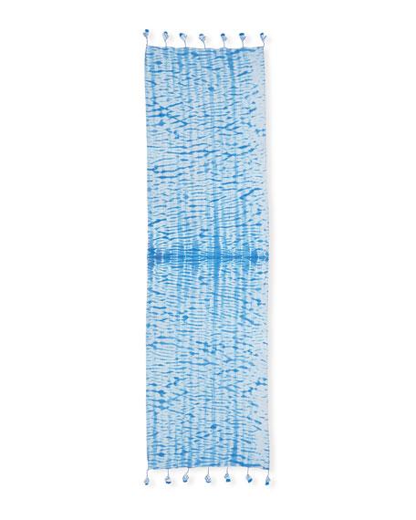 Shibori Striped Organic Cotton Scarf