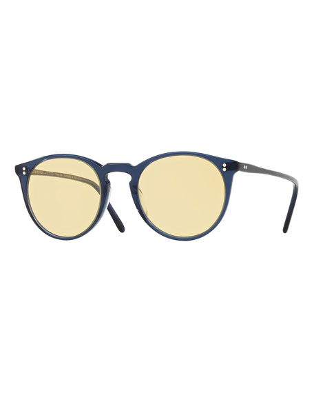 Oliver Peoples O'Malley Peaked Round Sunglasses