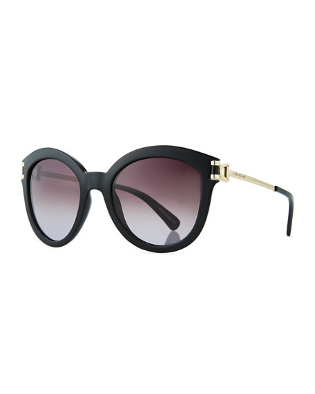Longchamp Plastic & Metal Cat-Eye Sunglasses
