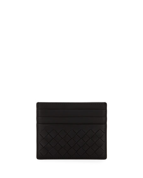 Image 1 of 1: Woven Leather Credit Card Case