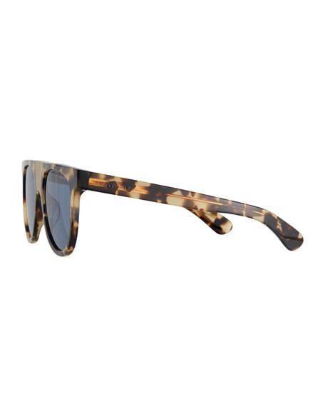 CALVIN KLEIN 205W39NYC Flattop Acetate Sunglasses w/ Contrast Metal Nose Bridge