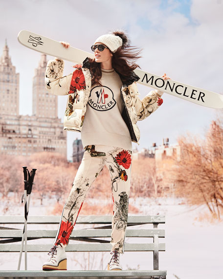 Moncler Cable-Knit Beanie Hat w/ Fur Pompom