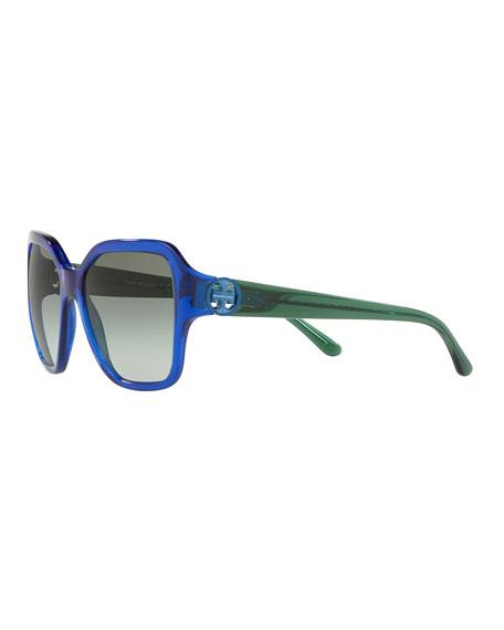 Tory Burch Square Acetate Gradient Sunglasses