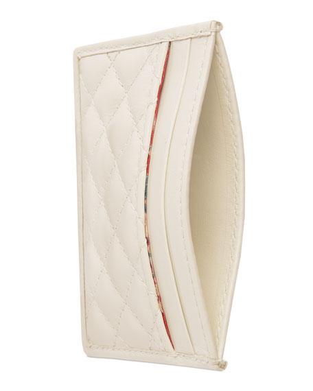 Gucci Trapuntata Leather Card Case