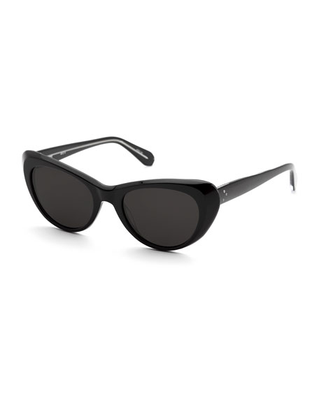 KREWE Irma Cat-Eye Monochromatic Sunglasses