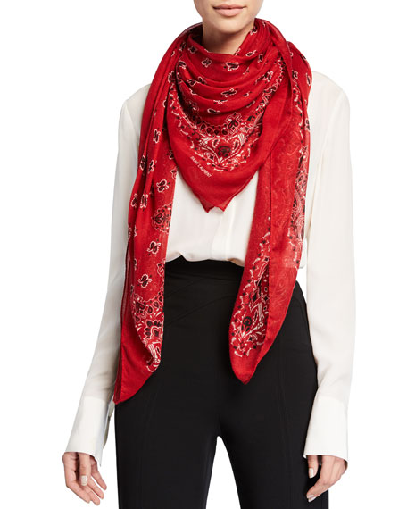 Saint Laurent Oversized Bandana Scarf