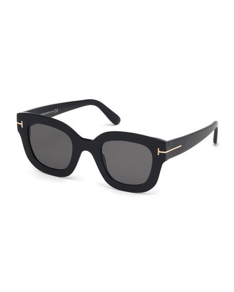 TOM FORD Pia Square Acetate Sunglasses