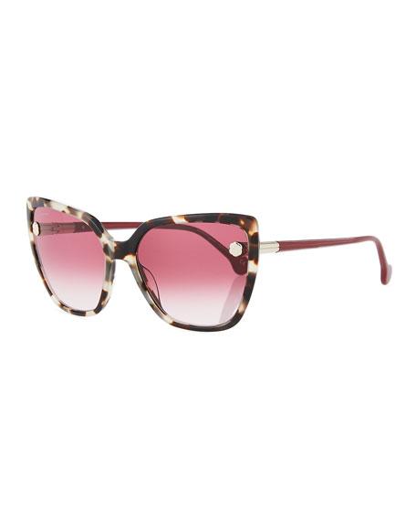 Salvatore Ferragamo Fiore Cat Eye Acetate Sunglasses Neiman Marcus