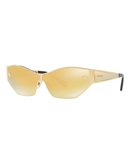 Versace Mirrored Medusa Head Butterfly Sunglasses