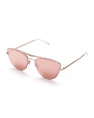 906aa24853a Sunday Somewhere Jarjar Mirrored Cat-Eye Sunglasses