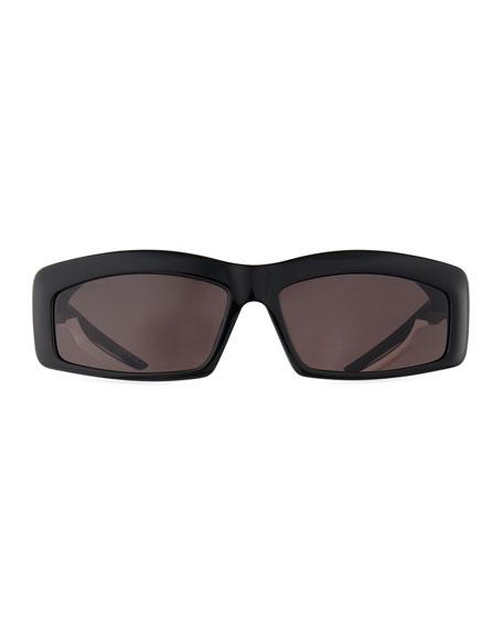 Balenciaga Rectangle Acetate Sunglasses