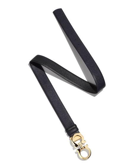 Salvatore Ferragamo Gancini-Buckle Leather Belt
