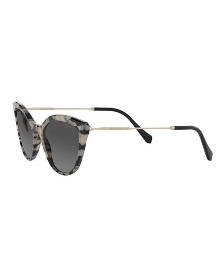 Miu Miu Acetate & Metal Cat-Eye Sunglasses
