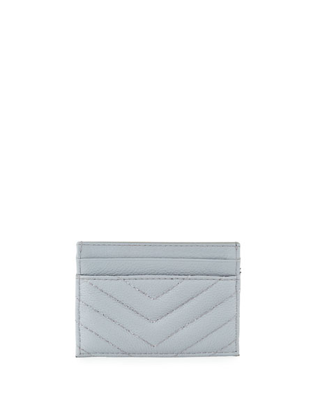 Rebecca Minkoff Edie Quilted Card Case, Gray