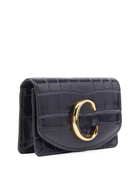 Chloe C Business Card Case