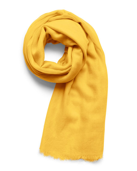 Image 2 of 3: Akris Solid Cashmere-Silk Scarf