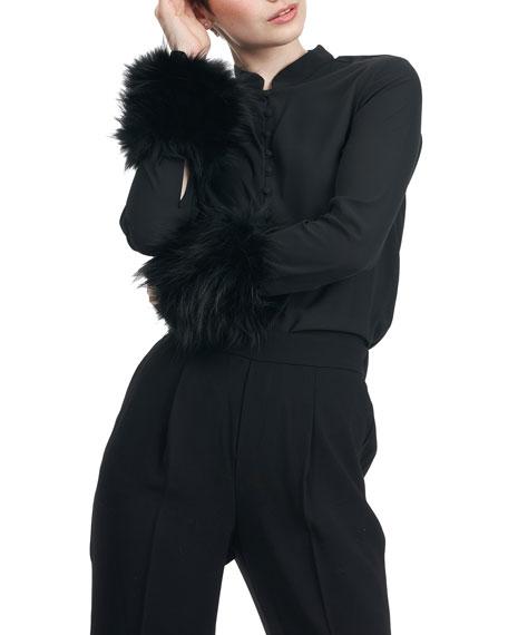 Gorski Fox Fur Knit Cuffs