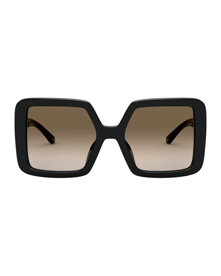 Image 2 of 3: Chunky Square Acetate Sunglasses