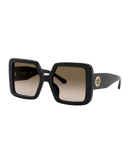 Image 1 of 3: Chunky Square Acetate Sunglasses