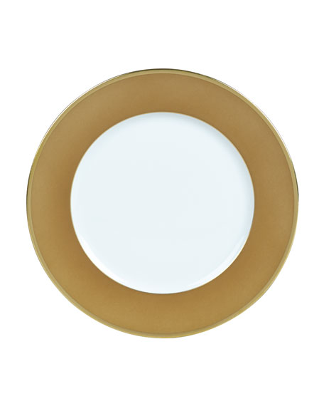 Color Block Bronze/Gold Bread & Butter Plate