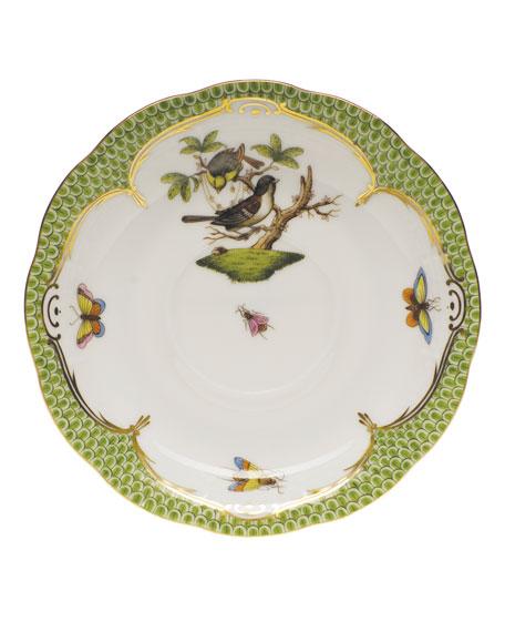 Herend Rothschild Bird Borders Green Tea Saucer #1