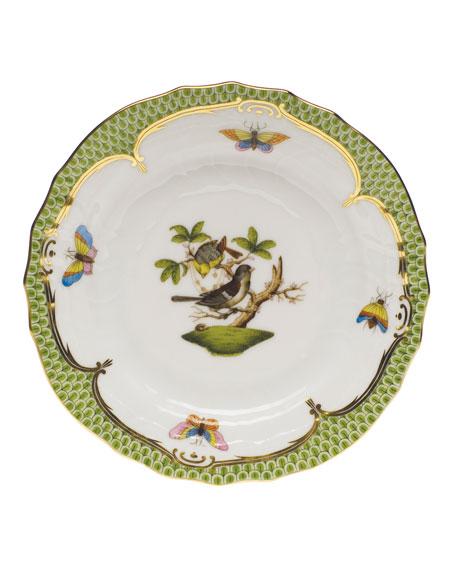 Herend Rothschild Bird Borders Green Bread & Butter Plate #1