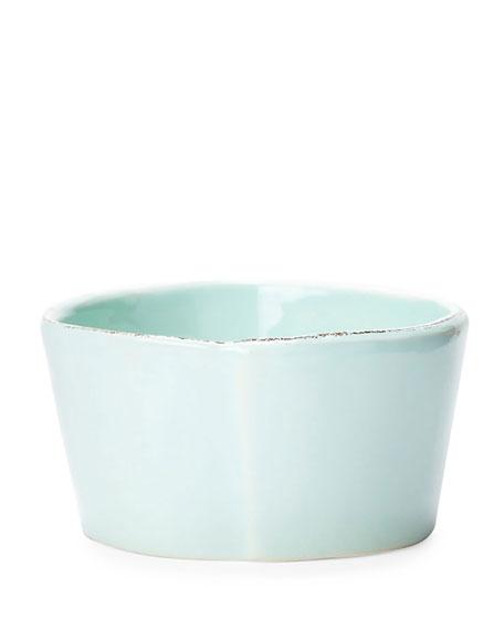 Vietri Lastra Condiment Bowl, Aqua