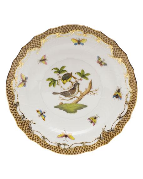 Herend Rothschild Bird Borders Brown Salad Plate #1