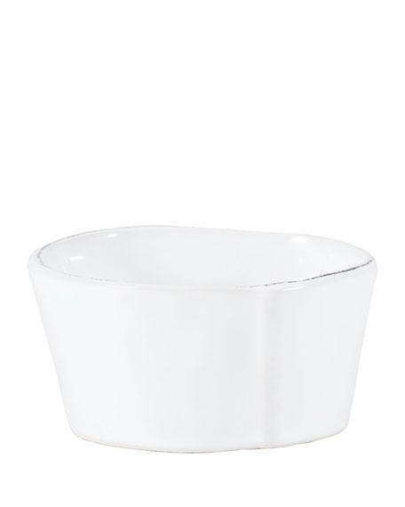 Lastra White Condiment Bowl