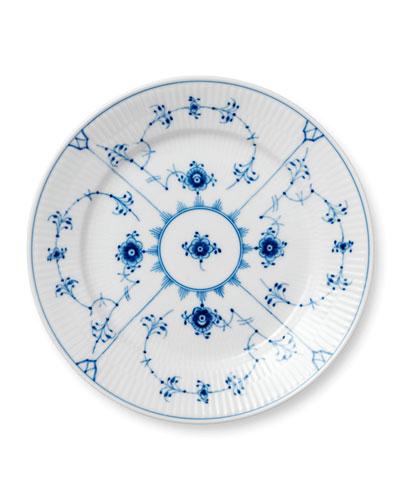Blue Fluted Plain Salad Plate
