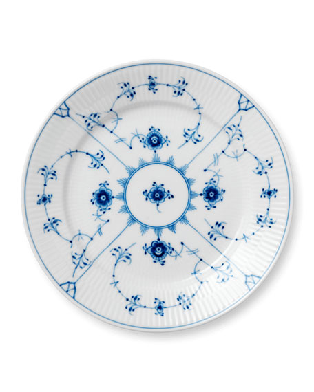 Blue Fluted Plain Salad Plate