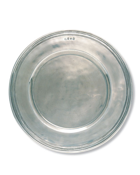 Scribed Rim Large Charger Plate