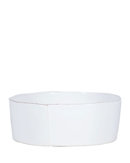 Image 1 of 1: Lastra White Large Serving Bowl