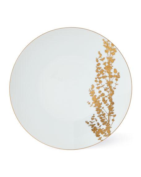 Bernardaud Vegetal Gold Dinner Plate