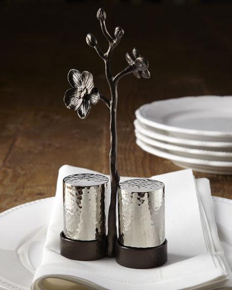 """""""Black Orchid"""" Salt & Pepper Set"""