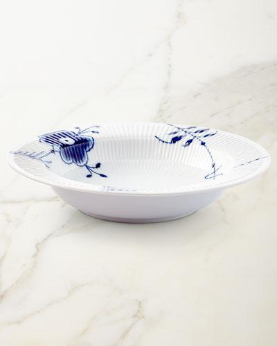 Blue Fluted Mega Large Salad Bowl