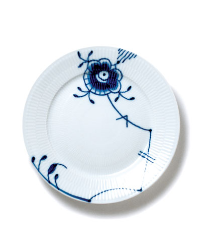 Blue Fluted Mega Salad Plate #6