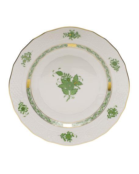 Chinese Bouquet Green Dessert Plate