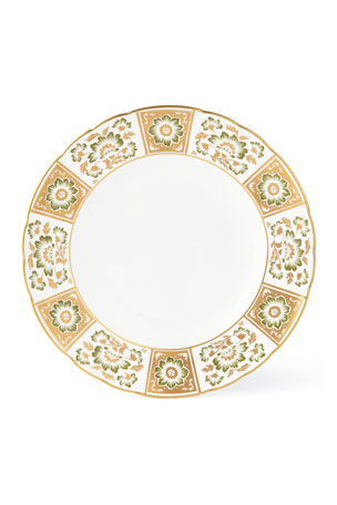 Royal Crown Derby Derby Panel Green Dinner Plate