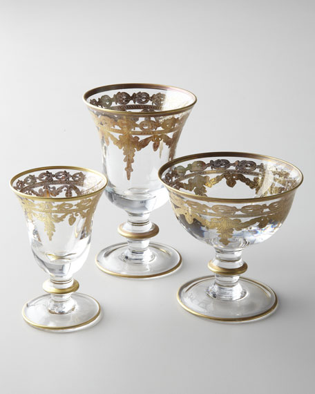 Image 3 of 5: Arte Italica Vetro Gold Wine Glass