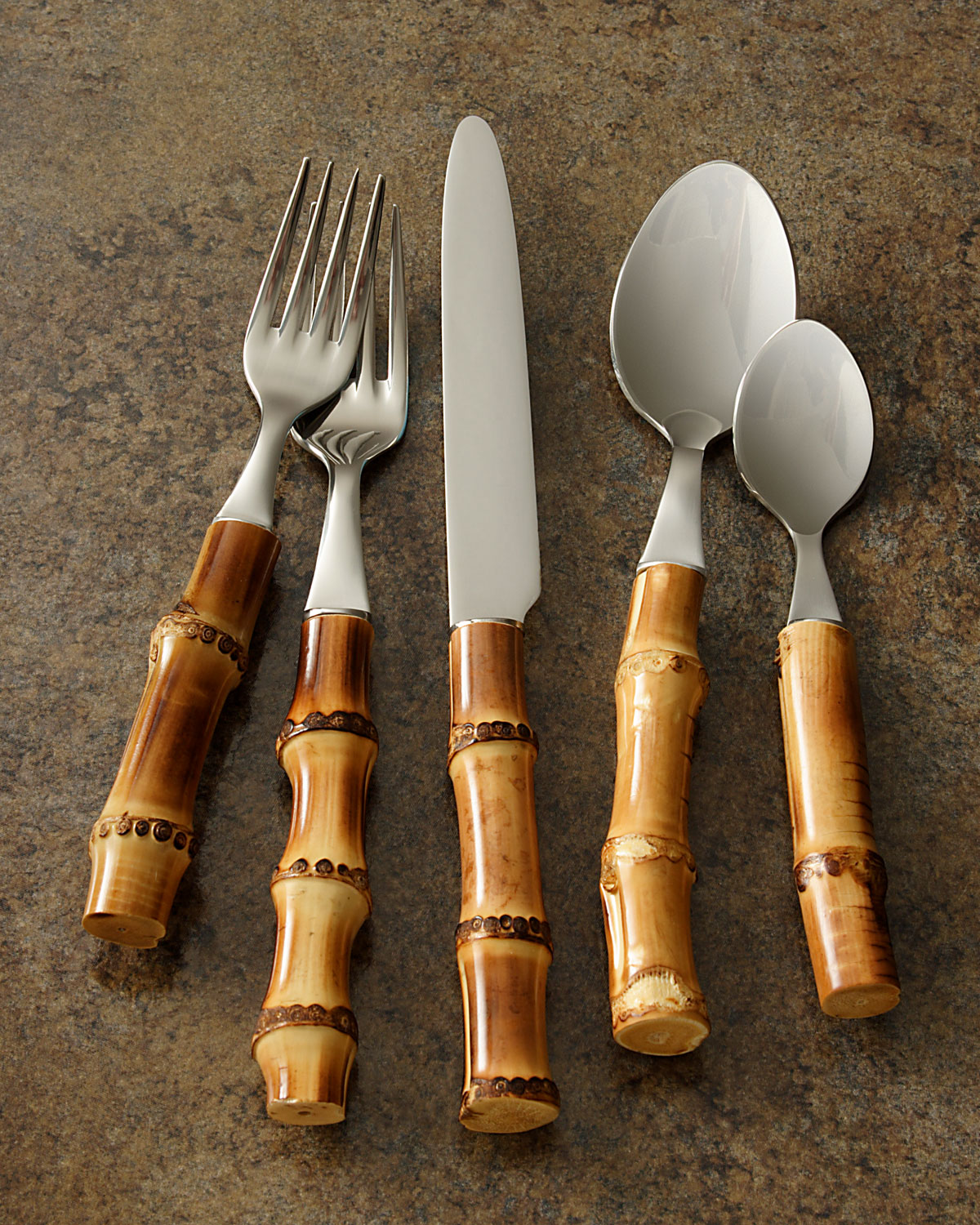 Five Piece Bamboo Place Setting, Natural by Juliska