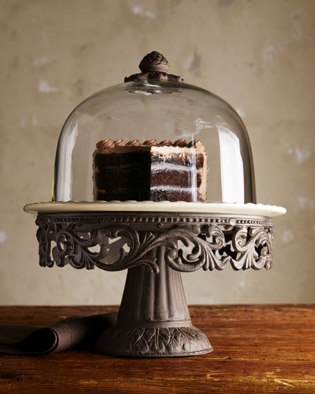 G G Collection Cake Dome & Pedestal