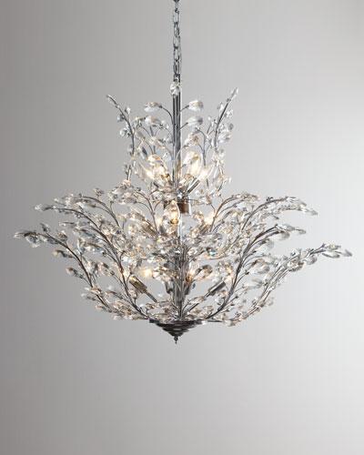 Upside Down 18-Light Crystal Chandelier