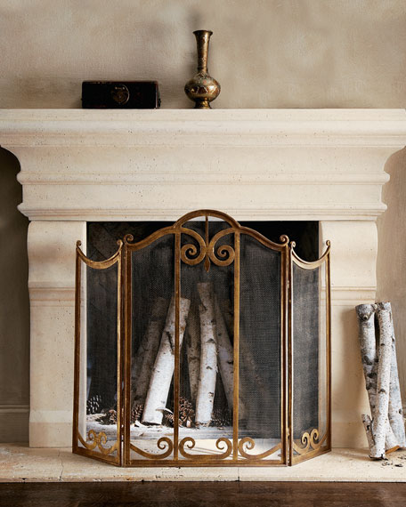 Image 2 of 2: Classic Fireplace Screen