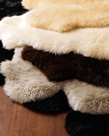 Sheepskin Rug, 6' x 6'