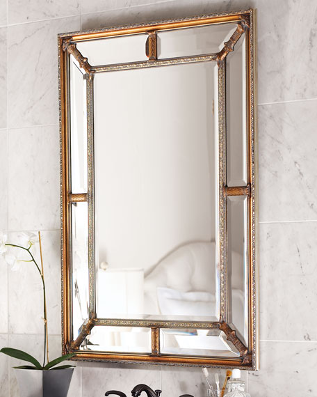 John-Richard Collection Beveled-Frame Mirror