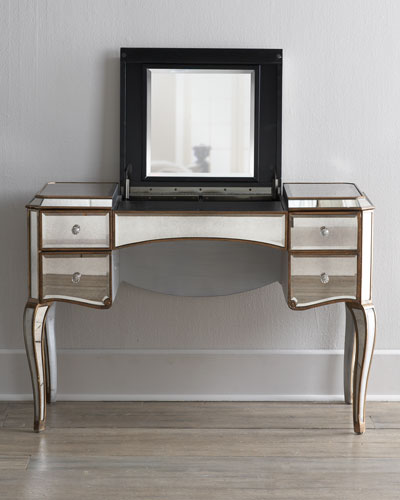 """Claudia"" Mirrored Vanity/Desk"