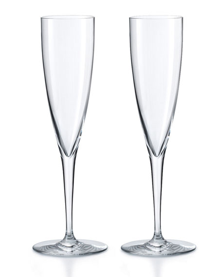 Baccarat Dom Perignon Champagne Flutes, Set of Two