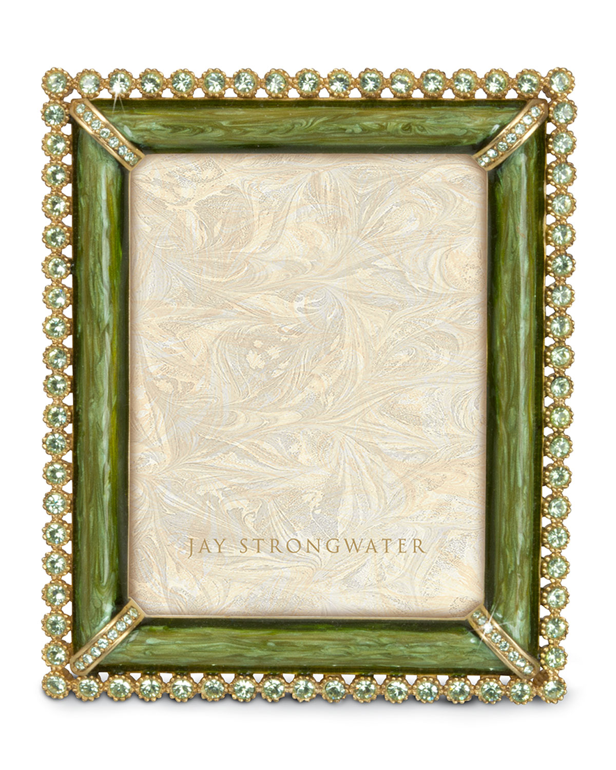 Jay Strongwater Emilia Stone-Edge Picture Frame | Neiman Marcus