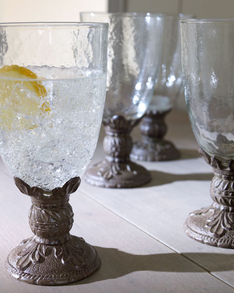 G G Collection Glassware with Cast Aluminum Stems
